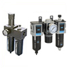 2 piece unit: filter/regulator + lubricator and